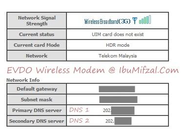 evdo modem signal