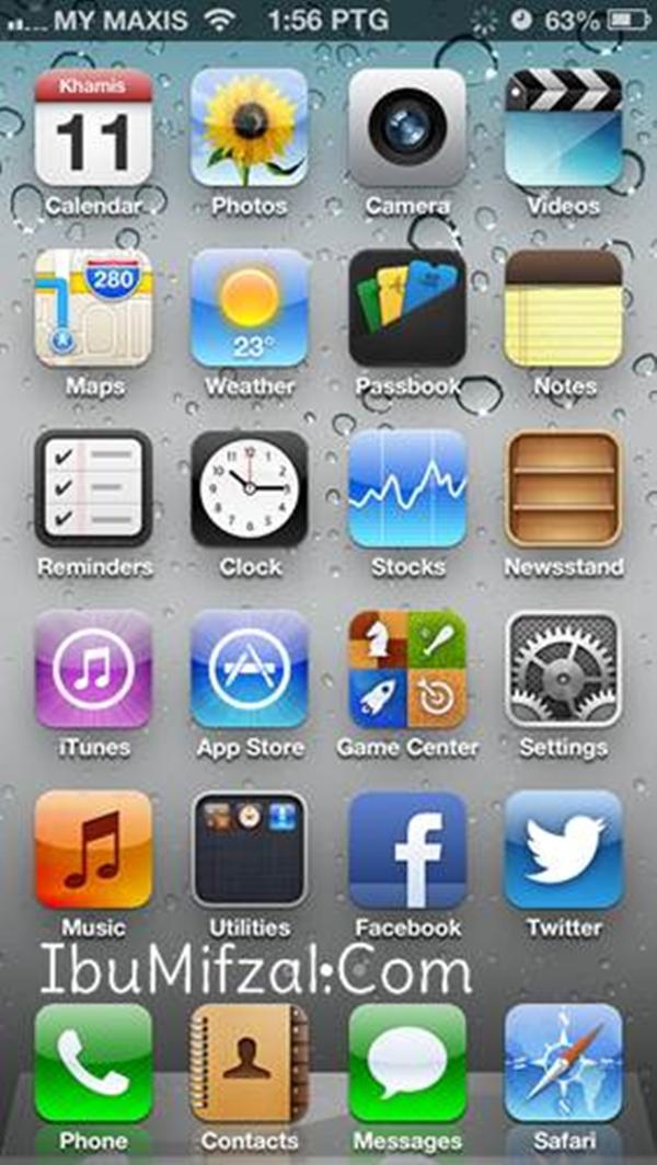 iphone 5 UI