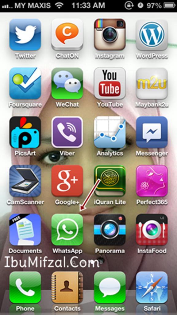 beli Whatsapp guna kad debit