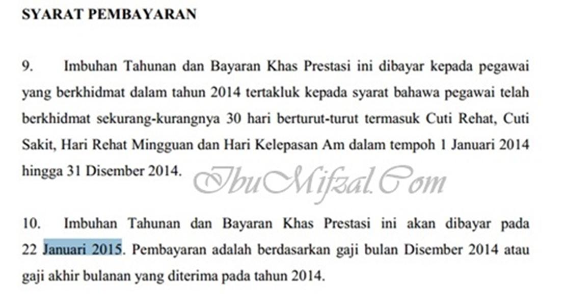 bayaran bonus 2014