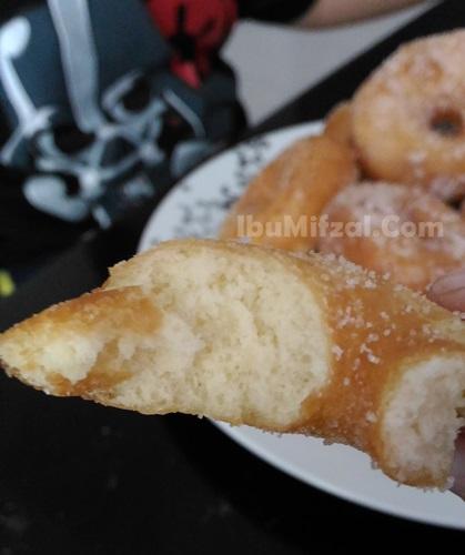 resipi simple donut gebu