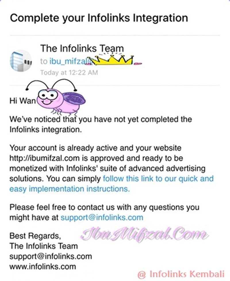 approved email from infolinks
