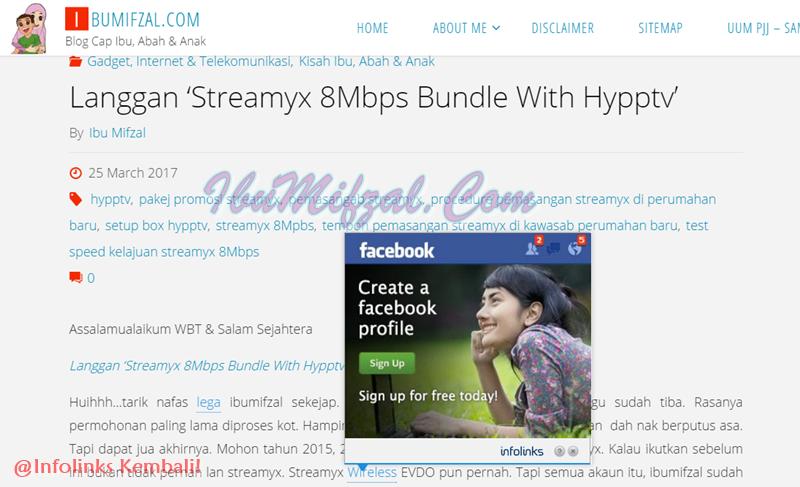 blog dengan iklan infolinks