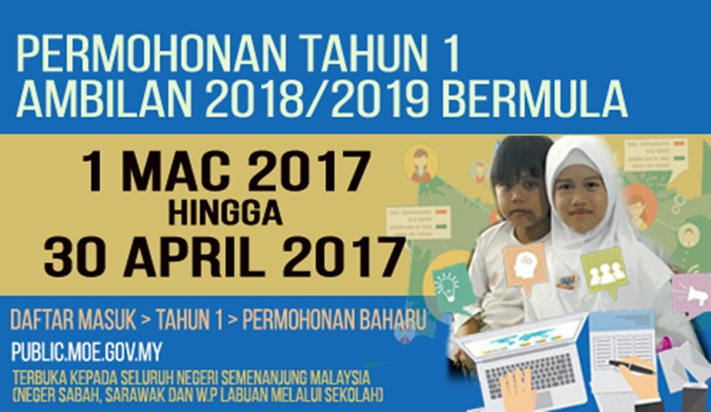pemohonan penempatan tahun 1 sekolah kebangsaan