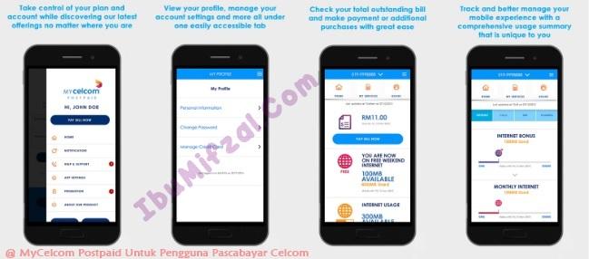 mycelcom postpaid app