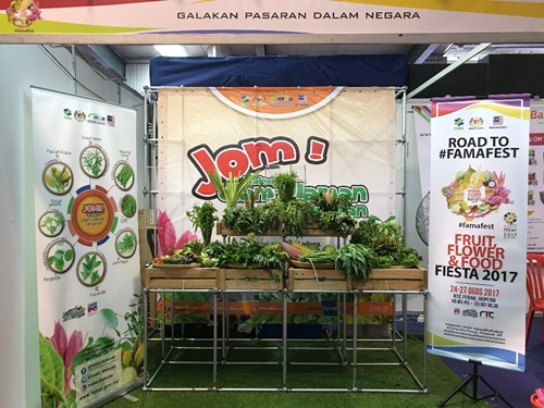 booth pameran di 4F (Fruit, Flower, Food Fiesta)